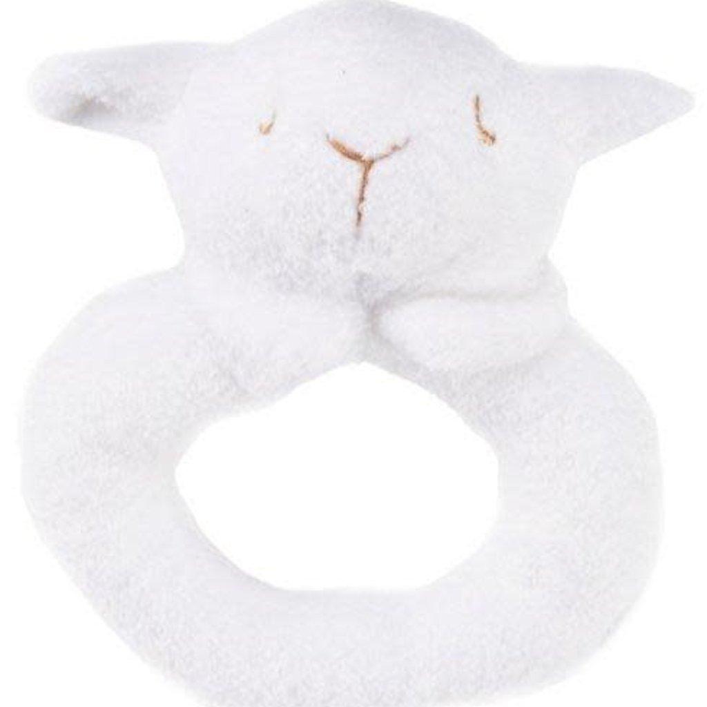Angel Dear Angel Dear Ring Rattle | White Lamb