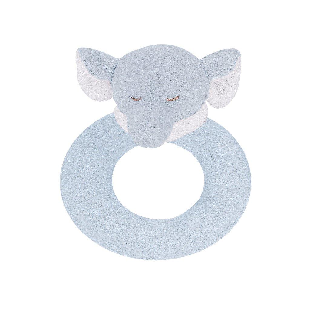 Angel Dear Angel Dear Ring Rattle   Blue Elephant