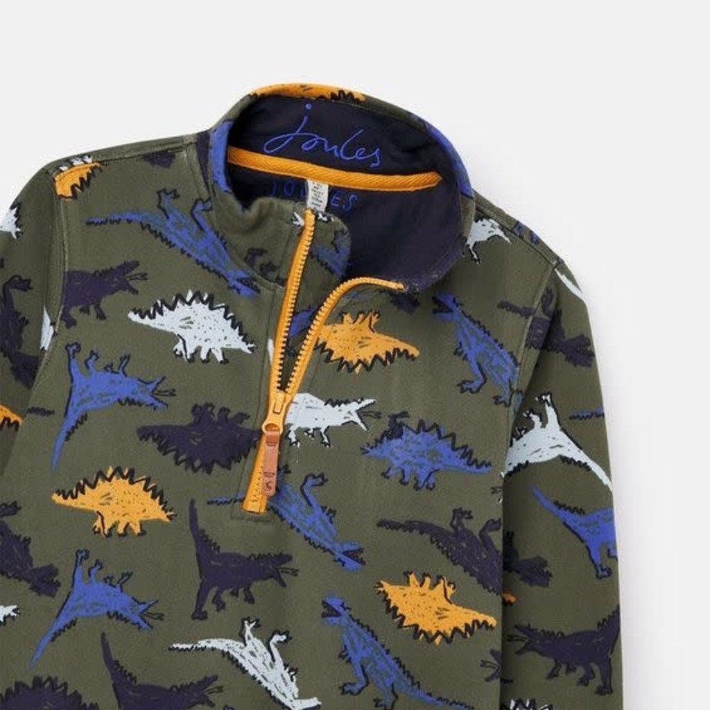 Joules   Dale Printed Half Zip Sweatshirt