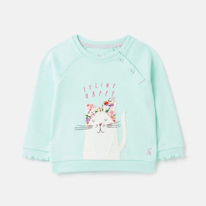 Joules | Luella Cotton Sweatshirt Ocean Cat