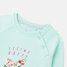 Joules   Luella Cotton Sweatshirt Ocean Cat
