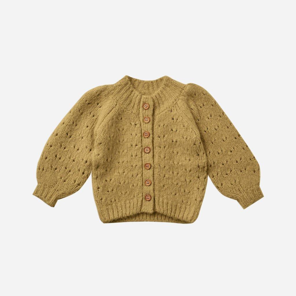 Rylee + Cru Rylee + Cru   Tulip Baby Cardigan Gold