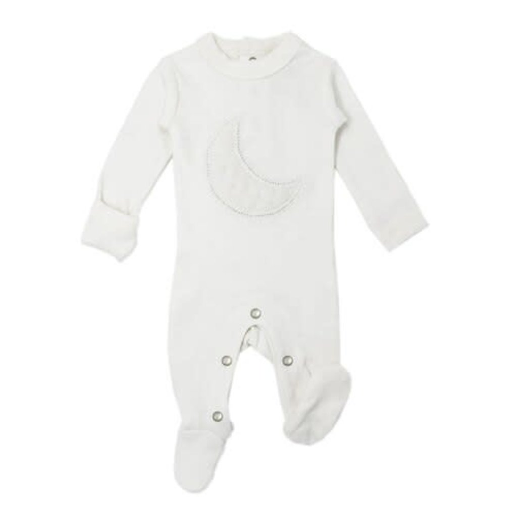 L'oved Baby L'oved Baby | Velveteen Graphic Footie White