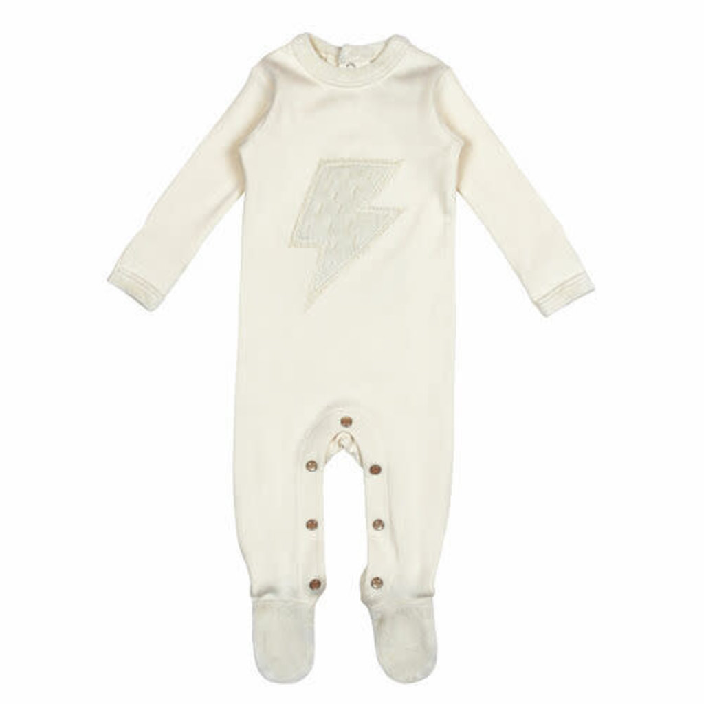 L'oved Baby L'oved Baby | Velveteen Graphic Footie Biege
