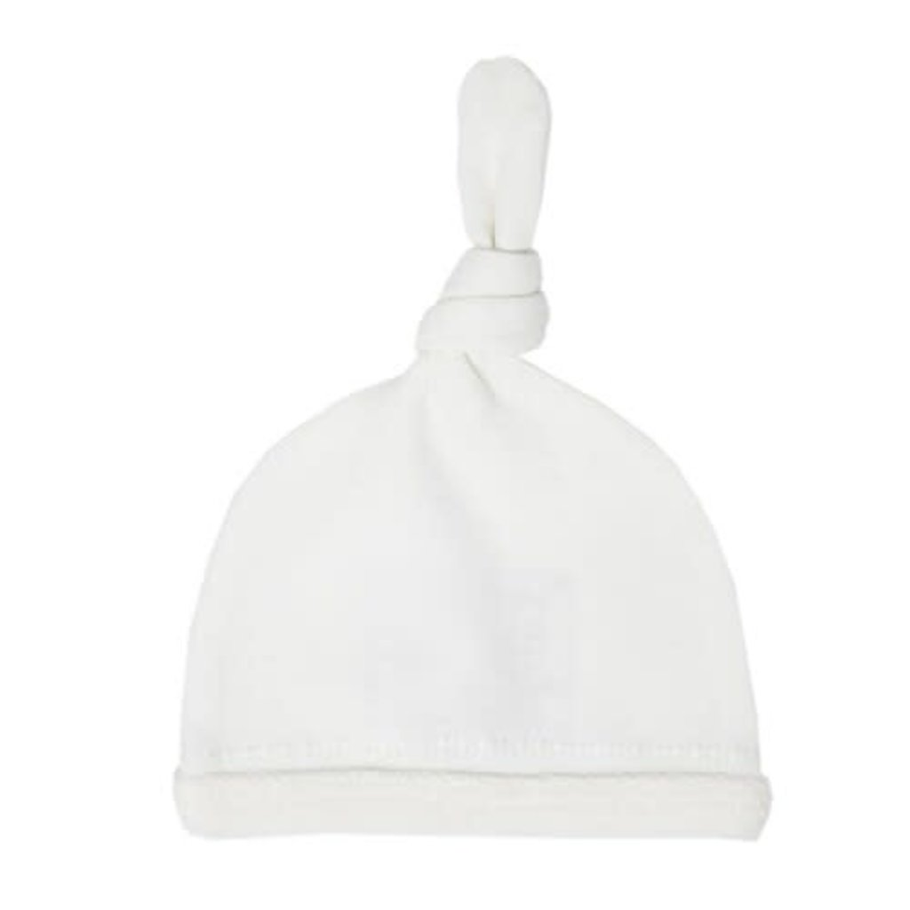 L'oved Baby L'oved Baby | Velveteen Top Knot Hat White