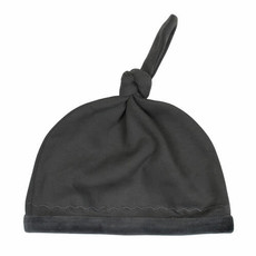 L'oved Baby L'oved Baby | Velveteen Top Knot Hat Gray
