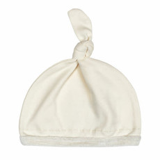 L'oved Baby L'oved Baby   Velveteen Top Knot Hat Beige