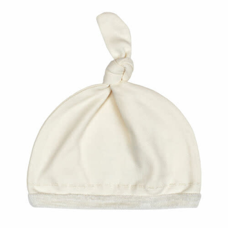 L'oved Baby L'oved Baby | Velveteen Top Knot Hat Beige