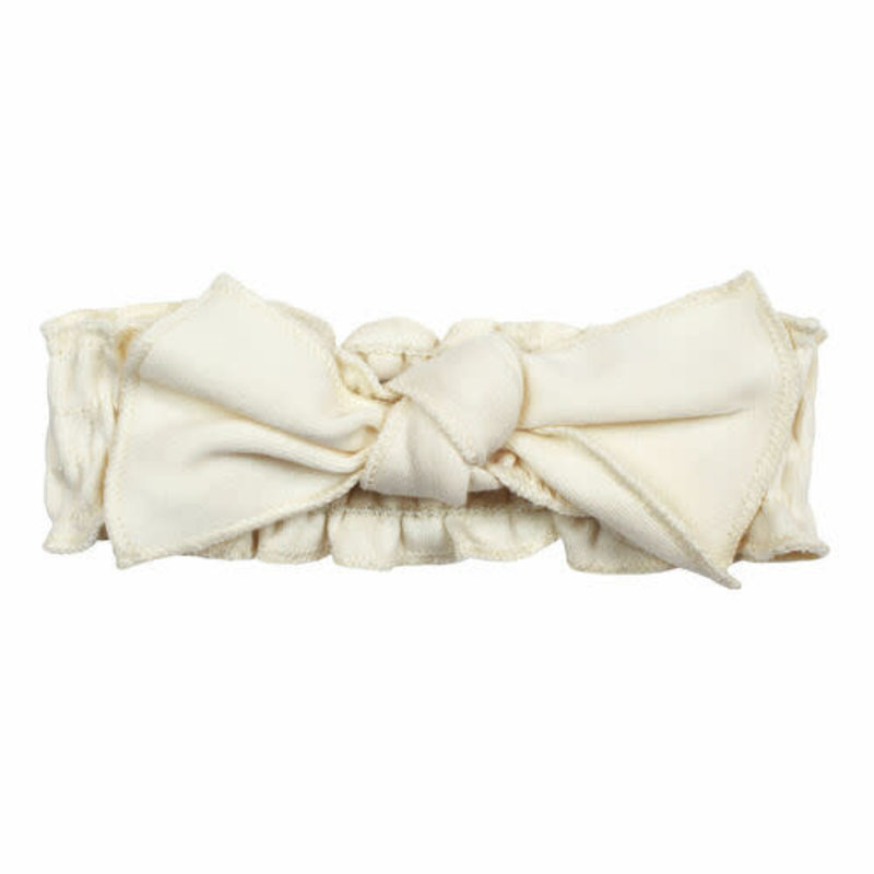 L'oved Baby L'oved Baby | Organic Cotton Smocked Headband Buttercream