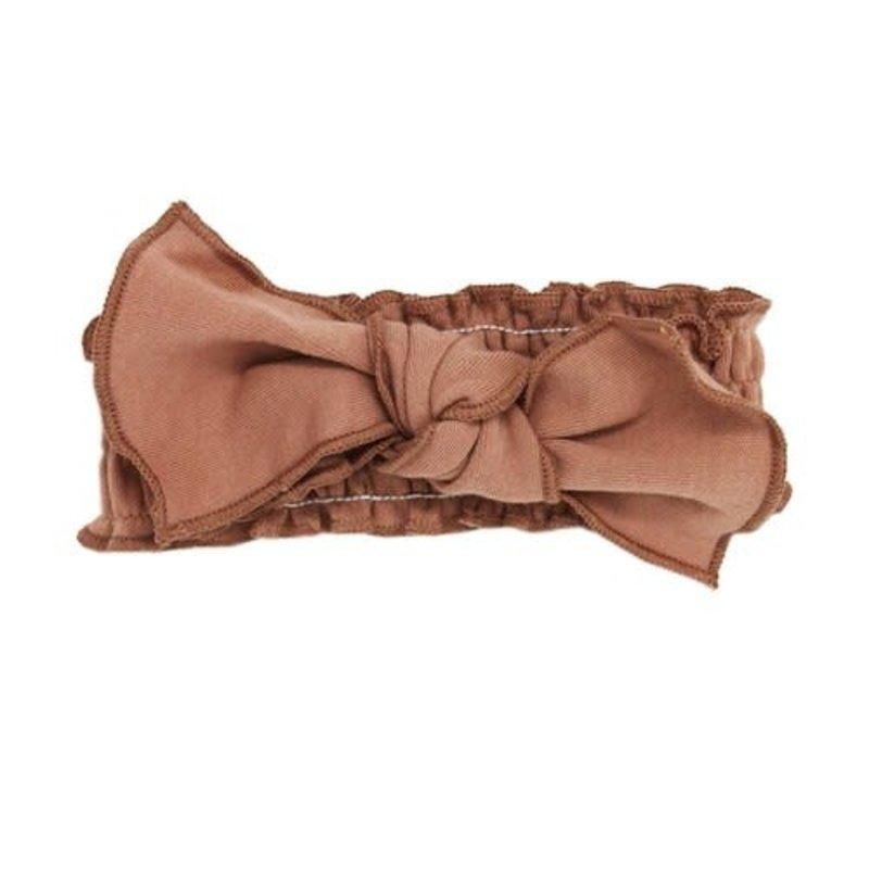 L'oved Baby L'oved Baby | Organic Cotton Smocked Headband Nutmeg