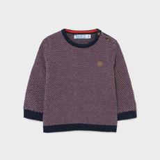 Mayoral Mayoral   Geometric Print Sweater Burgundy