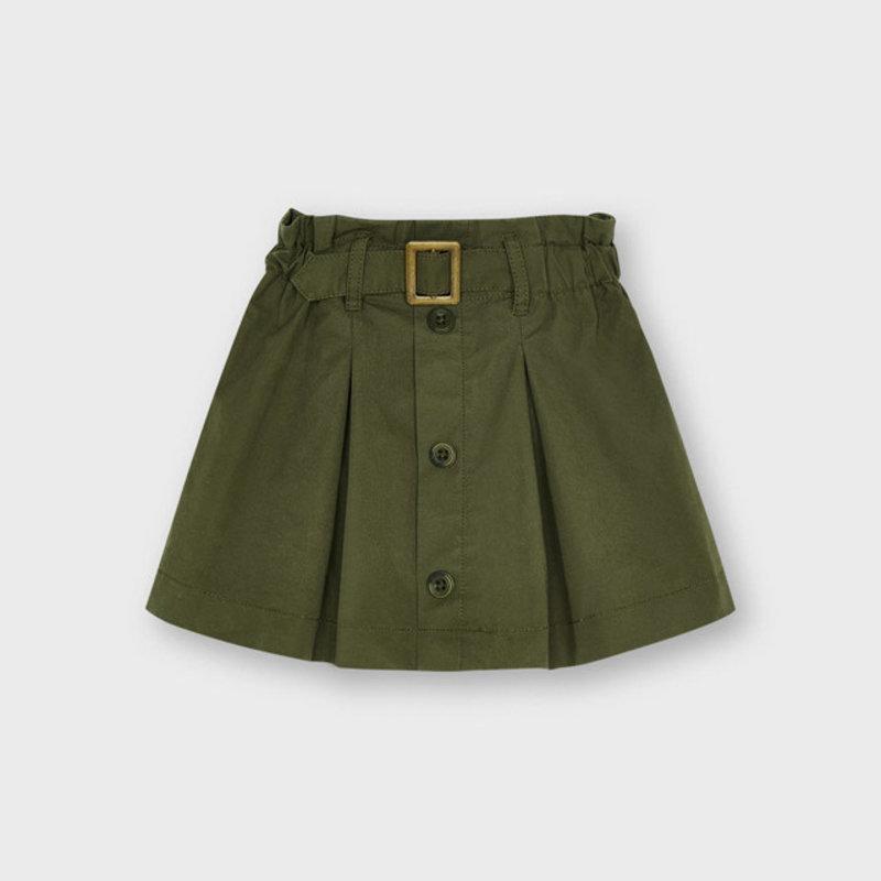 Mayoral Mayoral | Paper Bag Skirt Olive