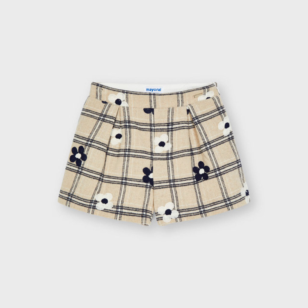 Mayoral Mayoral   Embroidered Flower Shorts