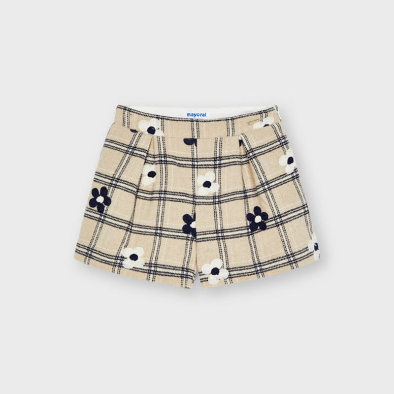 Mayoral Mayoral | Embroidered Flower Shorts