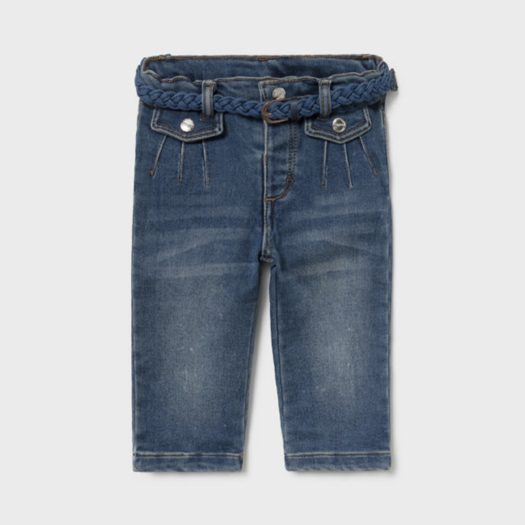 Mayoral Mayoral | Denim Jeans with Braided Belt