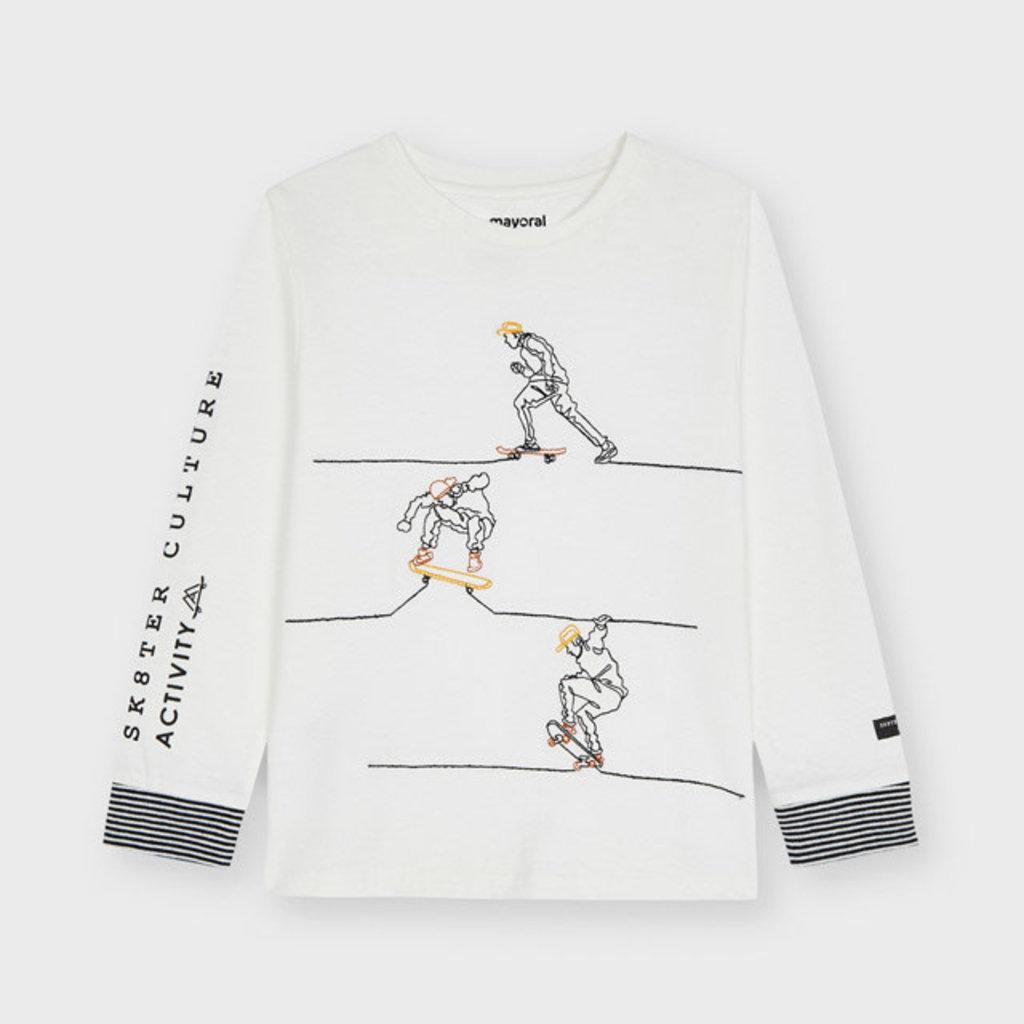 Mayoral Mayoral | Embroidered Long-Sleeved Skater Tee