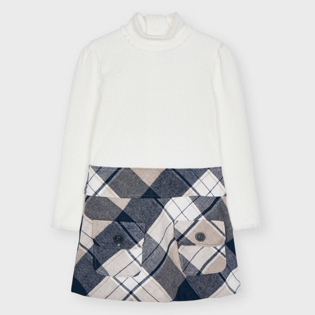 Mayoral Mayoral   Plaid Sweater Dress