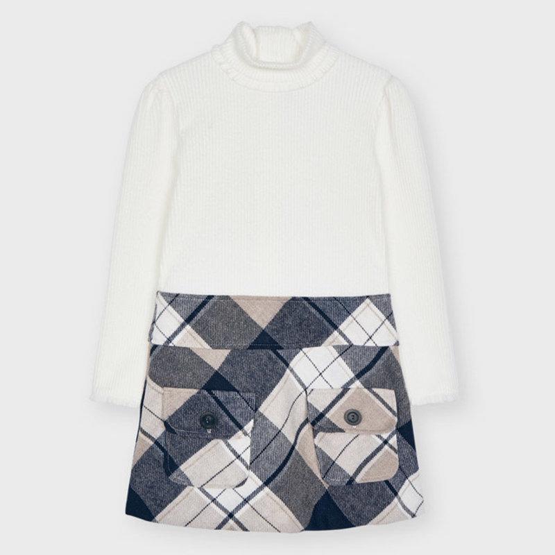Mayoral Mayoral | Plaid Sweater Dress