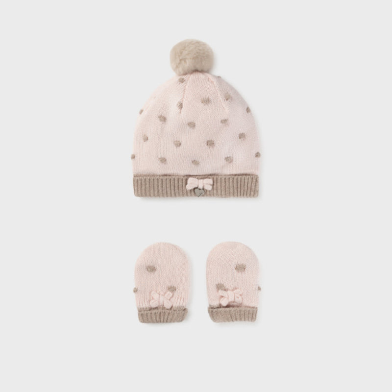 Mayoral Mayoral | Baby Hat and Mitten Set Rosa