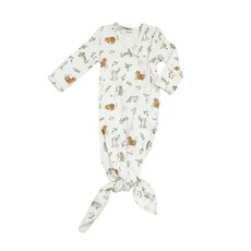 Angel Dear Angel Dear | Delicate Woodland Knotted Gown 0-3 mos