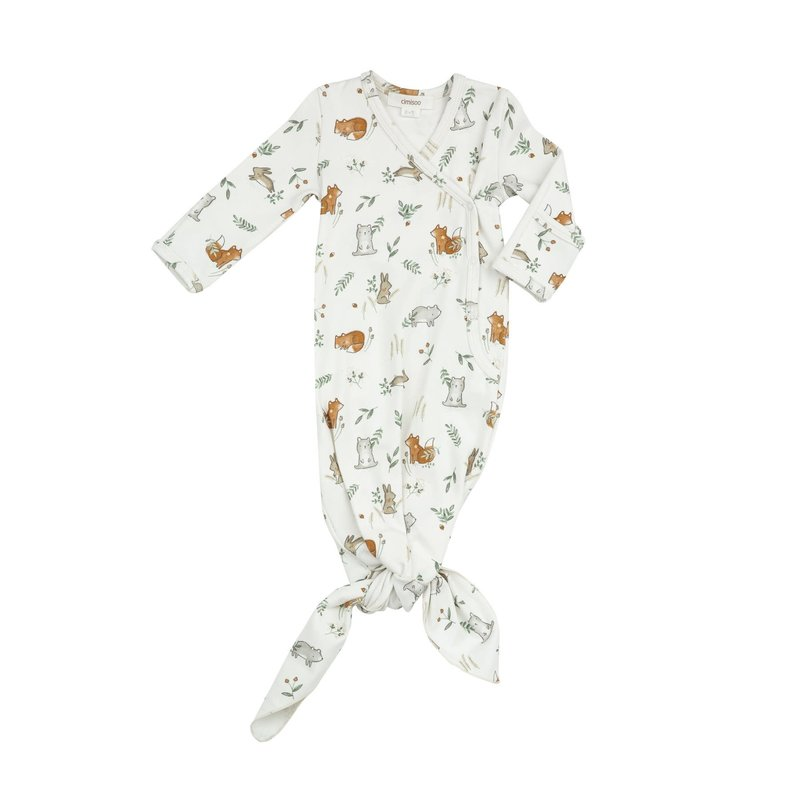 Angel Dear Angel Dear   Delicate Woodland Knotted Gown 0-3 mos