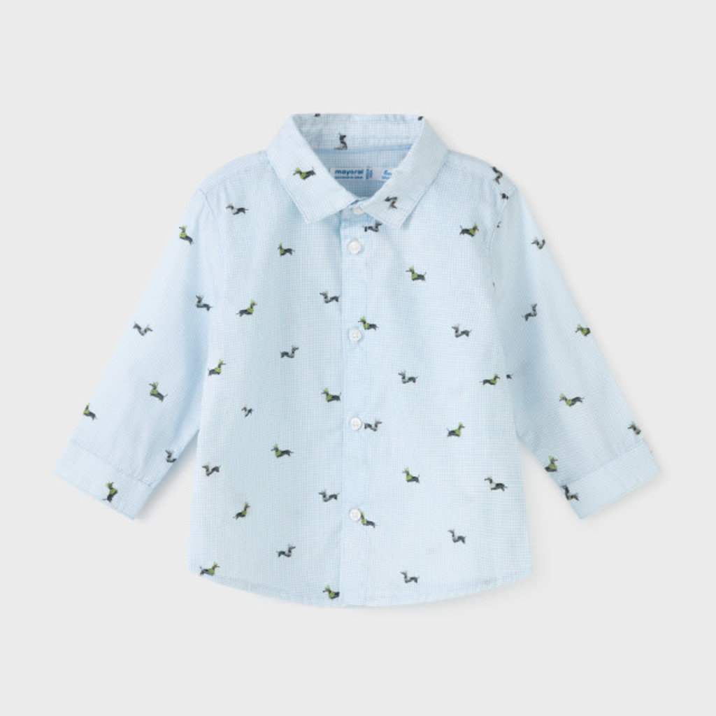 Mayoral Mayoral   Printed Button-Up Dachshund