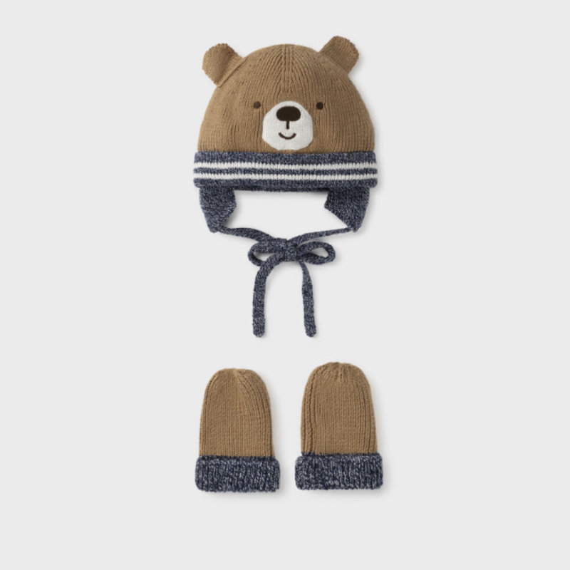 Mayoral Mayoral | Little Bear Hat and Mitten Set