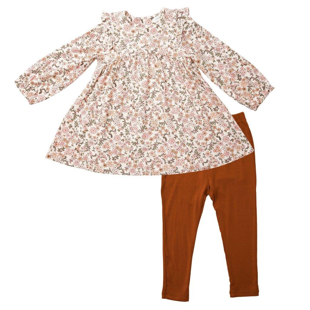 Angel Dear Angel Dear | Vintage Calico Ruffle Dress and Leggings