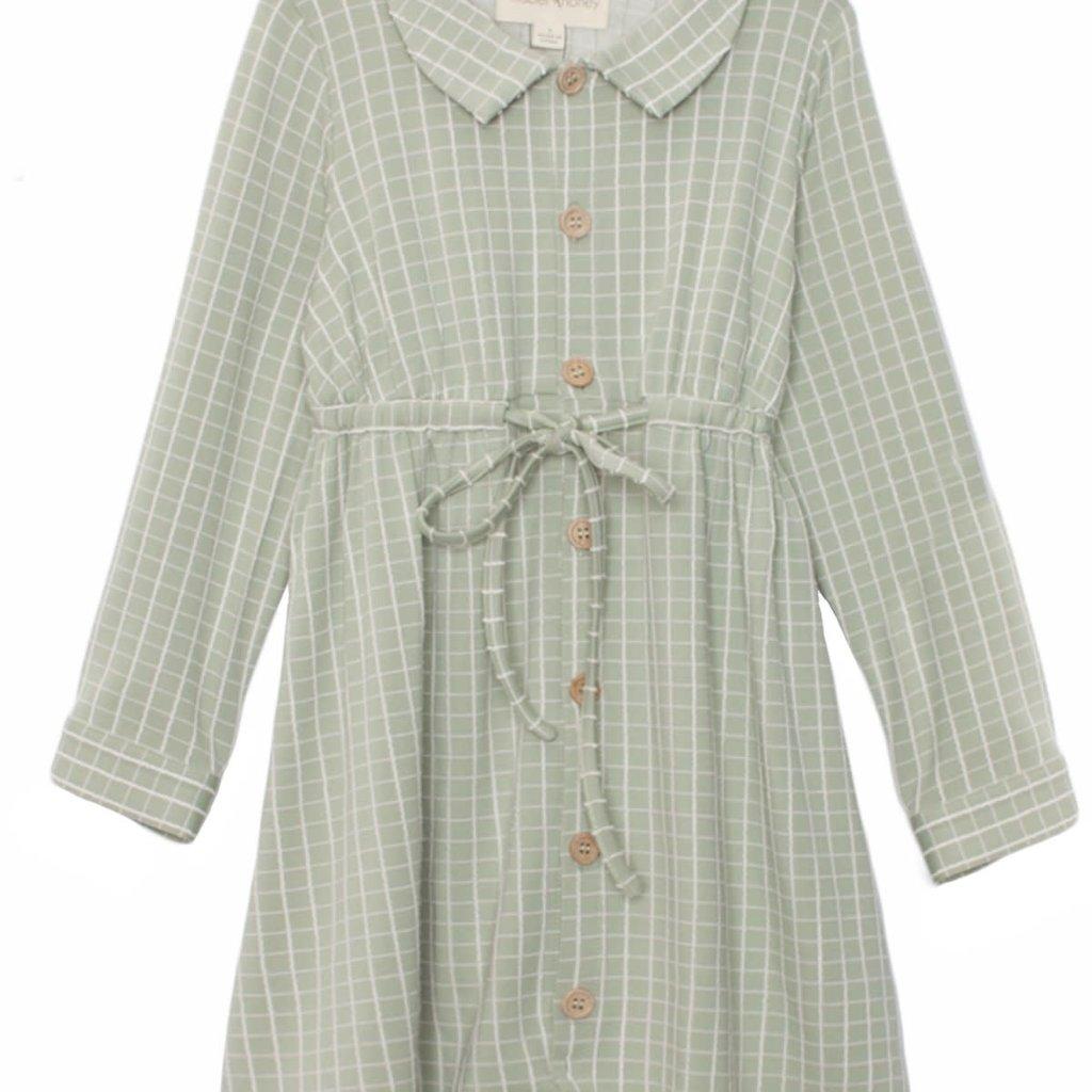 Mabel + Honey | Olive and Fig Plaid Knit Dress