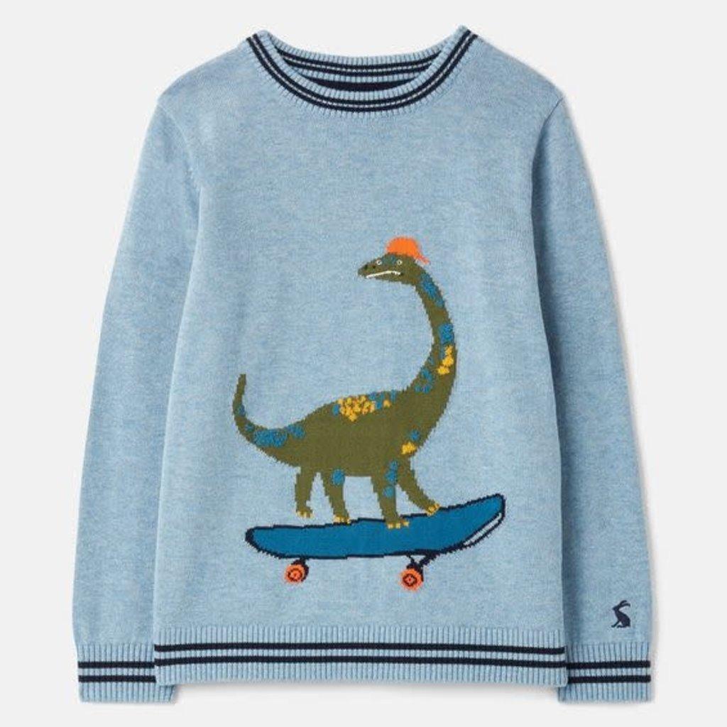 Joules | Zany Knit Sweater Blue Dino