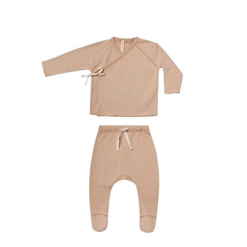 Quincy Mae Quincy Mae | Wrap Top + Pant Set Petal