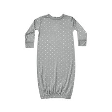Quincy Mae Quincy Mae   Bamboo Baby Gown Dusty Blue 0-3 mos