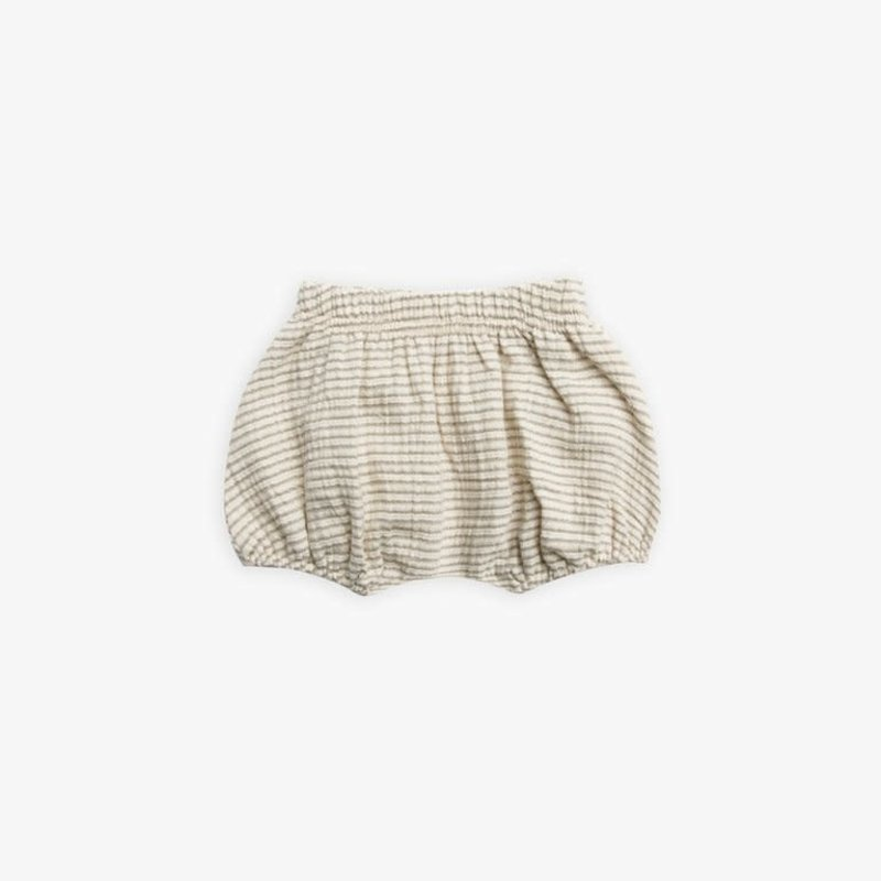 Quincy Mae Quincy Mae | Woven Bloomer Basil Stripe