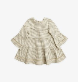 Quincy Mae Quincy Mae | Belle Dress Basil Stripe