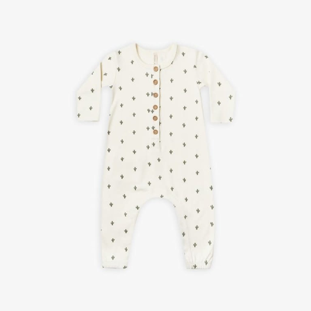 Quincy Mae Quincy Mae   Long Sleeve Jumpsuit Cactus