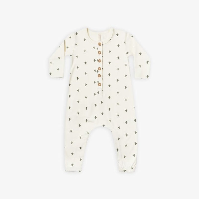 Quincy Mae Quincy Mae | Long Sleeve Jumpsuit Cactus