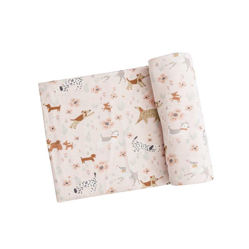 Angel Dear Angel Dear | Floral Pups Swaddle Blanket