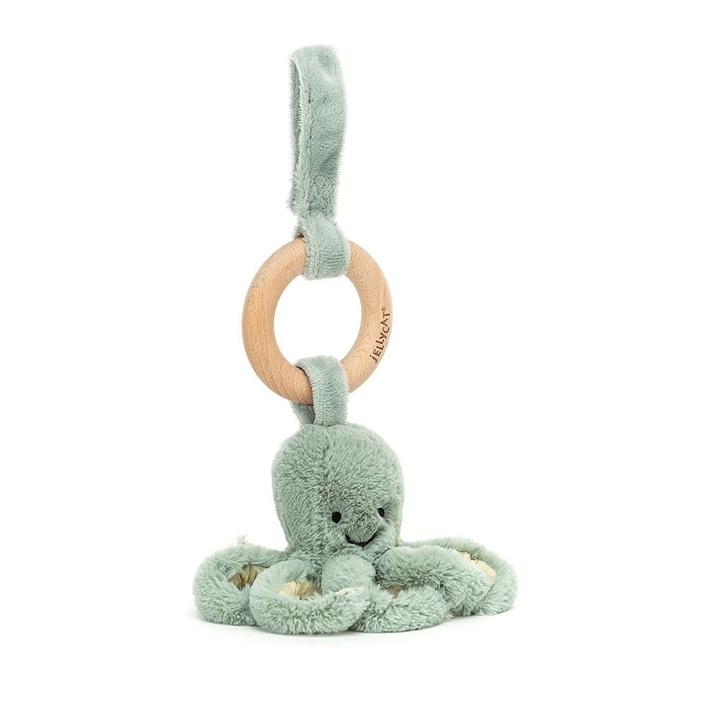 JellyCat Jellycat   Odyssey Octopus Wooden Ring Toy