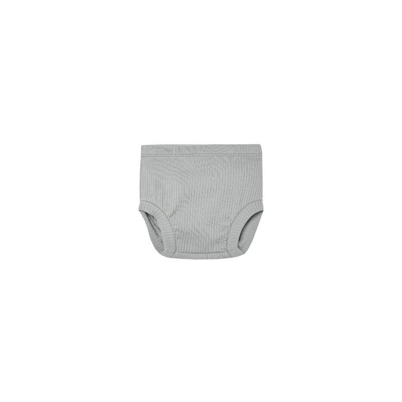 Quincy Mae Quincy Mae | Ribbed Bloomer Dusty Blue