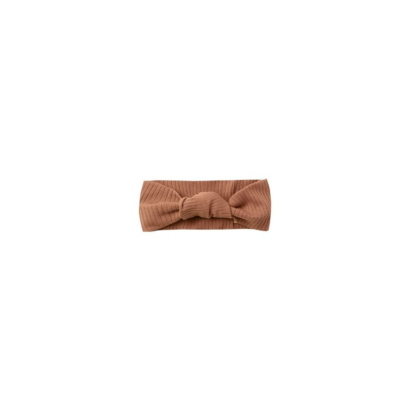 Quincy Mae Quincy Mae   Ribbed Knotted Headband Clay