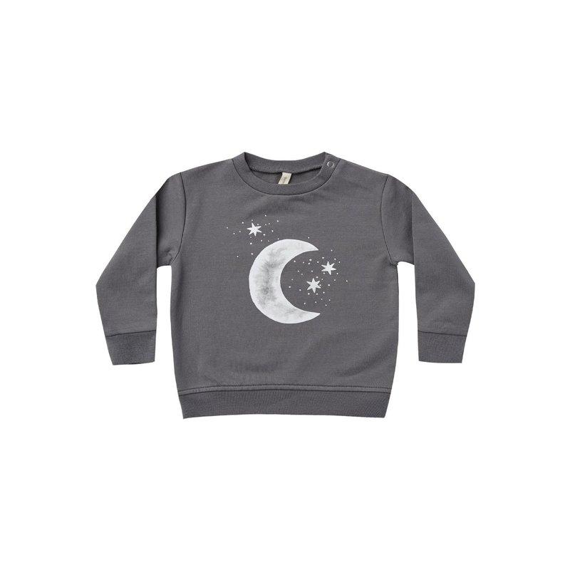 Quincy Mae Quincy Mae | Fleece Baby Sweatshirt Moon and Stars