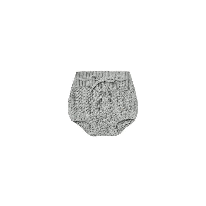 Quincy Mae Quincy Mae | Knit Tie Bloomer Dusty Blue