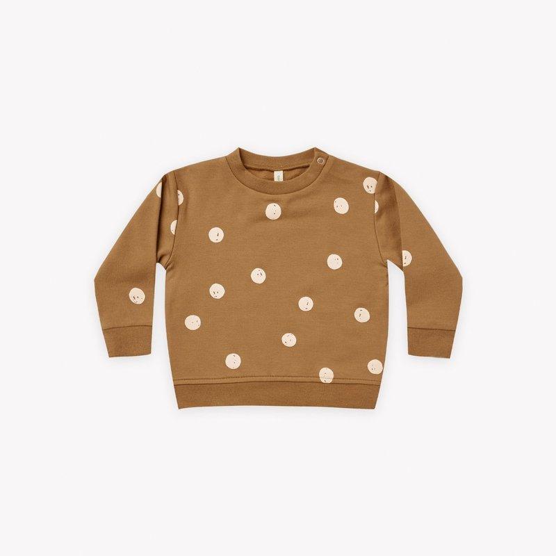 Quincy Mae Quincy Mae | Fleece Baby Sweatshirt Walnut