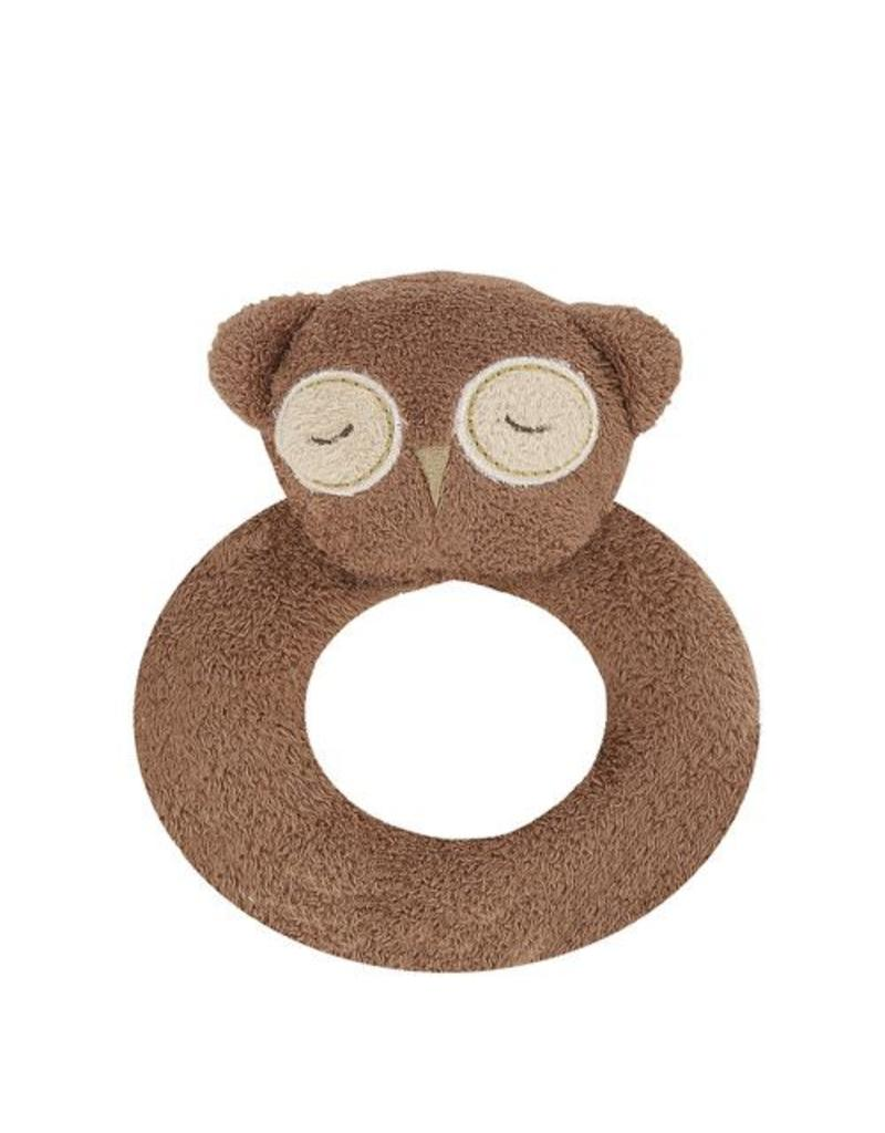 Angel Dear Angel Dear Ring Rattle | Brown Owl