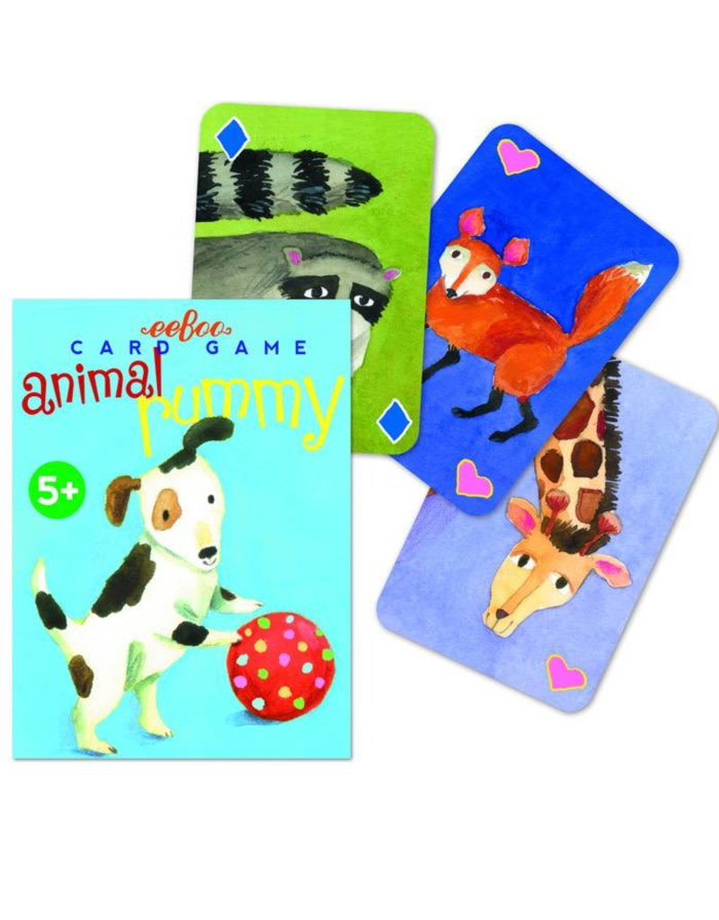 eeBoo Playing Card Set: Animal Rummy