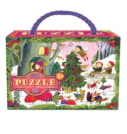 eeBoo Christmas In The Woods 20pc Gilt Puzzle