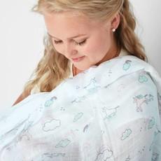 Angel Dear Bamboo Muslin Swaddle Blanket in Happy Unicorn