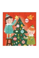 Petit Collage Holiday 24 Piece Petit Puzzle, Elves