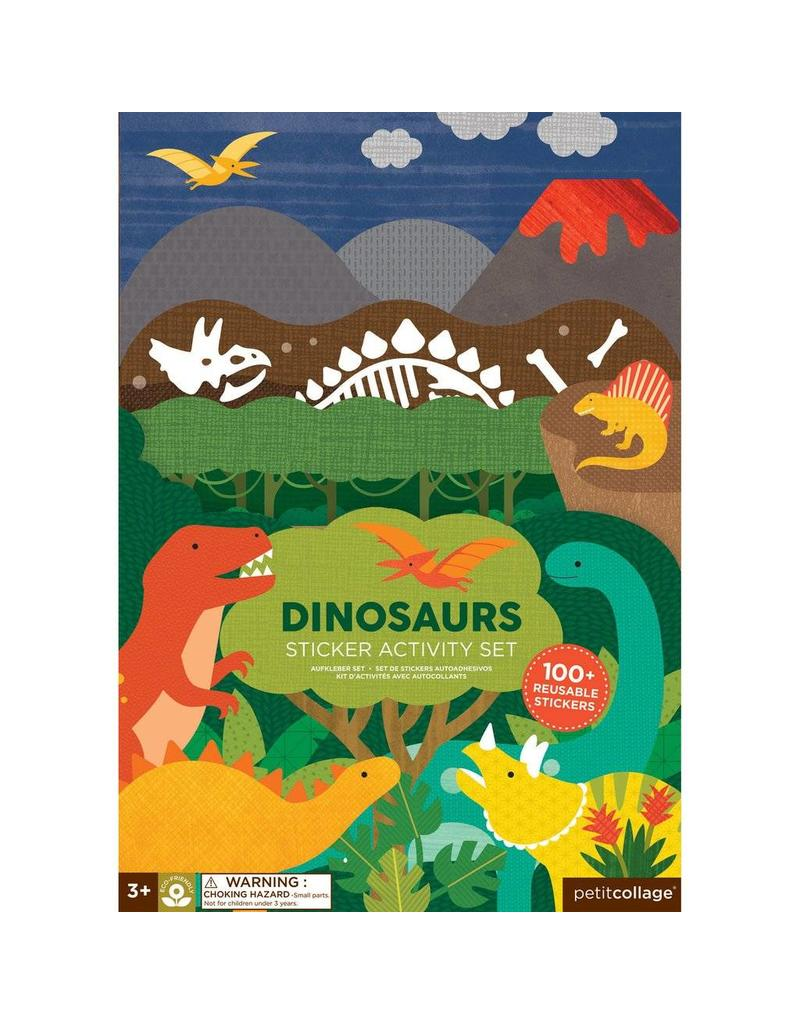 Petit Collage Petit Collage Dinosaur Sticker Activity Set
