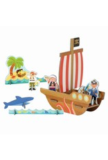 Petit Collage Petit Collage Pop-Out: Pirate Ship